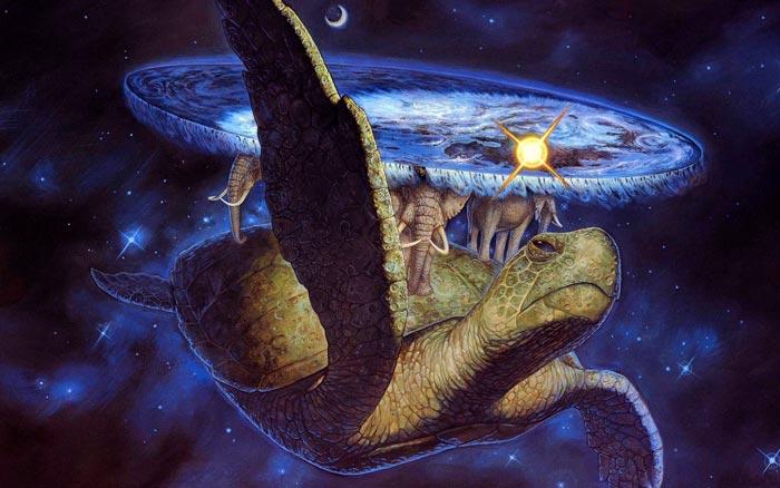 плоская земля на трех слонах