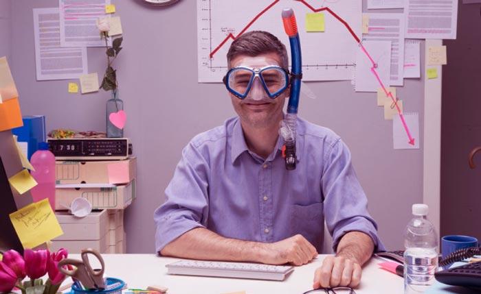офис мечтает об отпуске